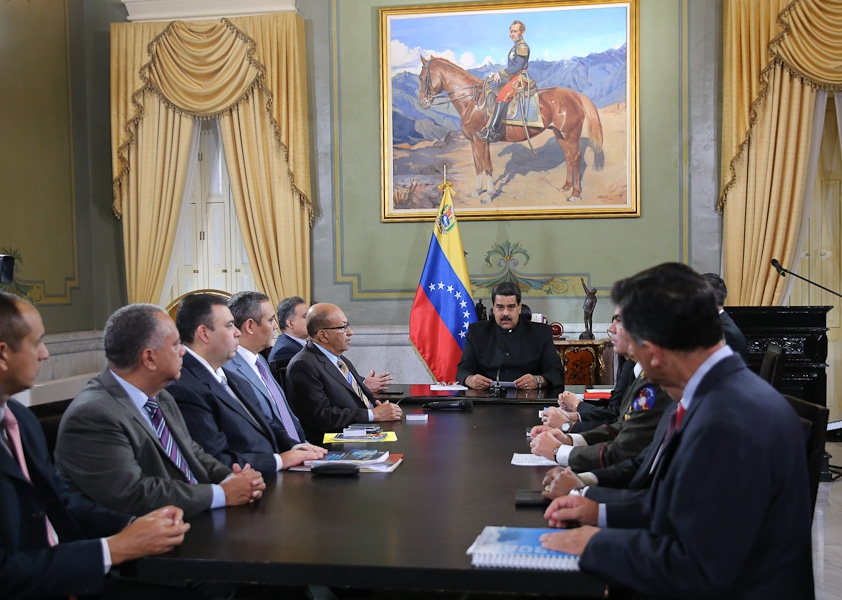 The urgent meeting of the National Security Council was called Friday night by President Nicolas Maduro. (MINCI)