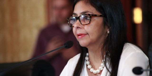 Venezuelan Foreign Minister Delcy Rodriguez accused the OAS of trying to undermine Venezuelan democracy. (AVN)