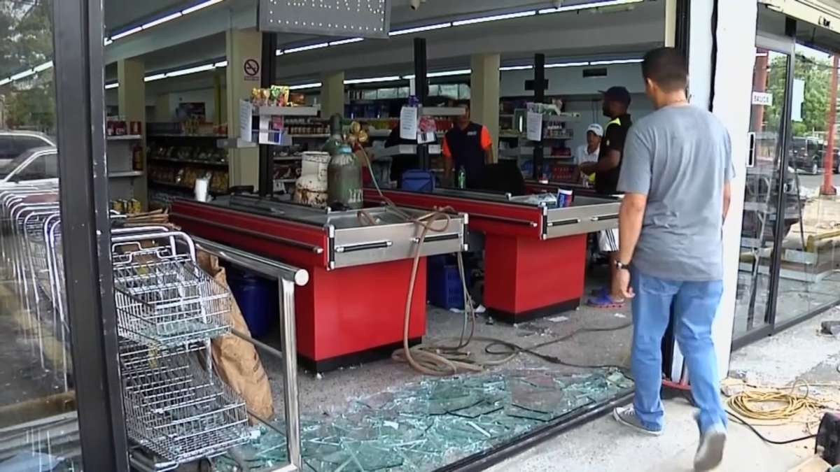 Dozens of stores have been looted amid riots and anti-government protests. (Reuters)