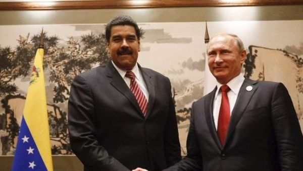 Venezuelan President Nicolas Maduro (L) and Russian leader, Vladimir Putin (R). (Reuters)