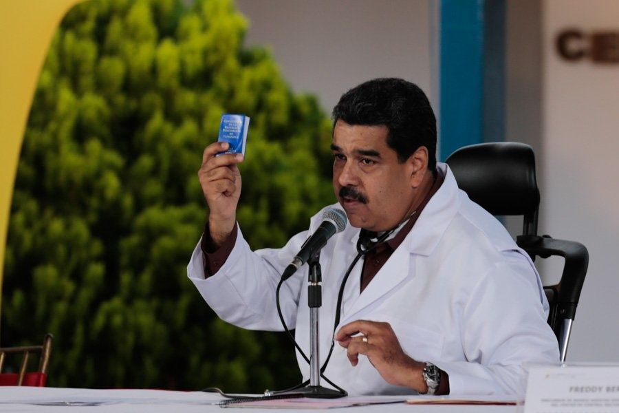Maduro said the opposition had responded to his call for dialogue on Thursday. (@PresidencialVen)