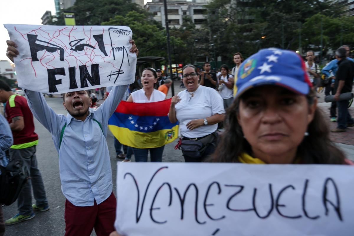 A Venezuelan opposition protest in Spain. (EFE)