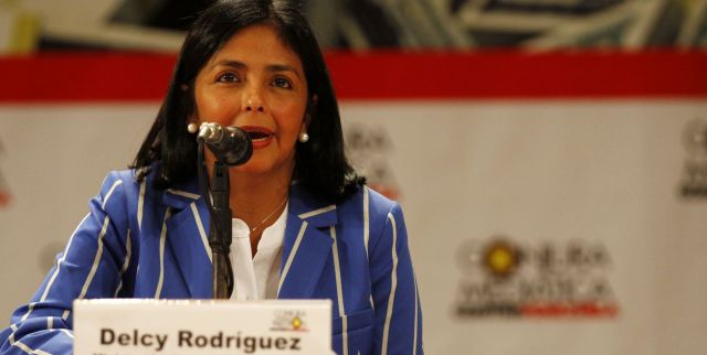 Venezuela's Foreign Minister Delcy Rodriguez condemned the OAS for refusing to address the political crisis in Brazil. (AVN)