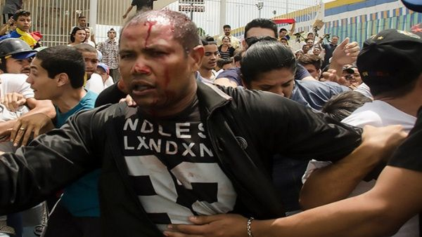 "Lt. Danny José Subero (34) was brutally beaten and shot dead by a mob of opposition supporters who accused him of being a Chavista ""infiltrator"". (EFE)"