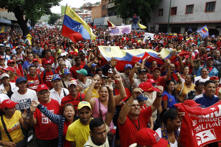 Venezuelans celebrate international workers' day 2017, just before Maduro made the surprise announcement. (AVN)
