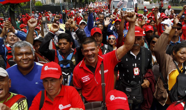 Workers celebrate International Workers' Day in Caracas. (Gregorio Terán &Henry Tesara/AVN)
