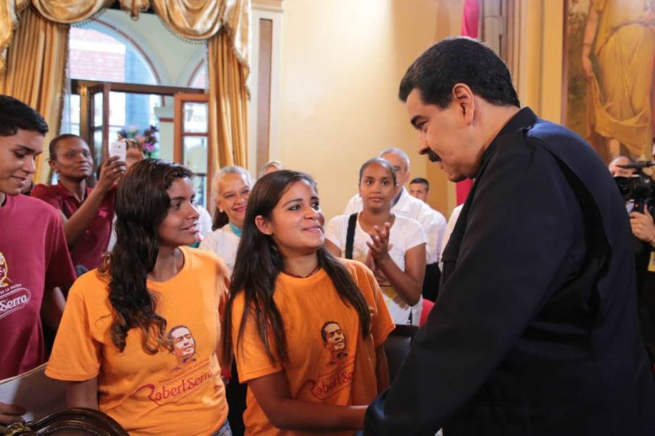 President Nicolas Maduro inaugurated the Movimiento Somos Venezuela on Wednesday. (Prensa Presidencial/ Handout)