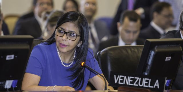 Foreign Minister Delcy Rodriguez has welcomed the defeat of an OAS declaration against Venezuela. (Archive)