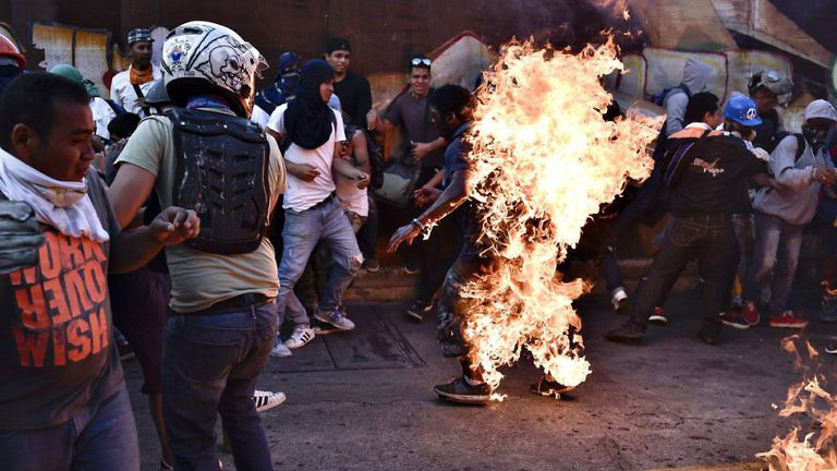 Orlando Figuera was burned alive by opposition demonstrators who took him for a government supporter. (AFP)