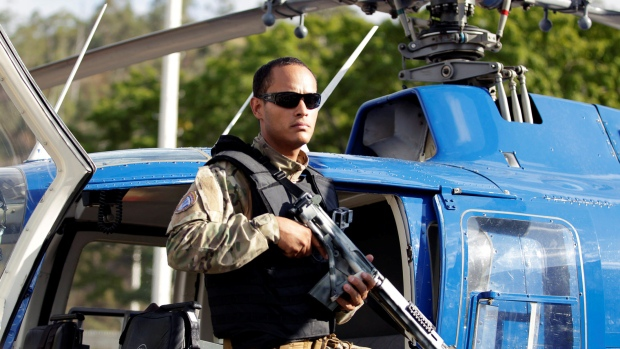 Police official Oscar Perez is accused of attacking two government buildings from a helicopter on June 27. (Christian Veron/Reuters)