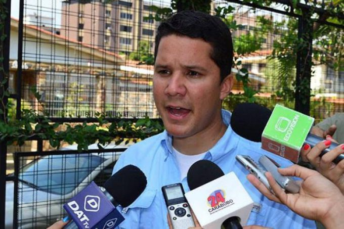 Voluntad Popular (Popular Will) party organiser Carlos Graffe was detained by security forces in the city of Valencia, Carabobo on Thursday. (Archive)