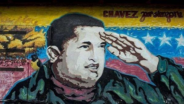 Mural of Venezuela's late President Hugo Chavez. (Prensa Libre)