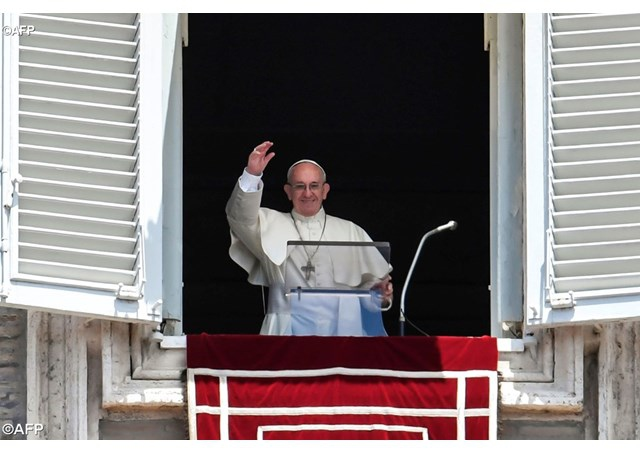 Pope Francis called for an end to civil strife in Venezuela from Saint Peter's Square on Sunday. (AFP)