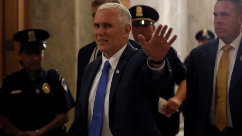 US Vice-President Mike Pence praise Lopez Friday, while promising more sanctions against Venezuela. (Reuters)