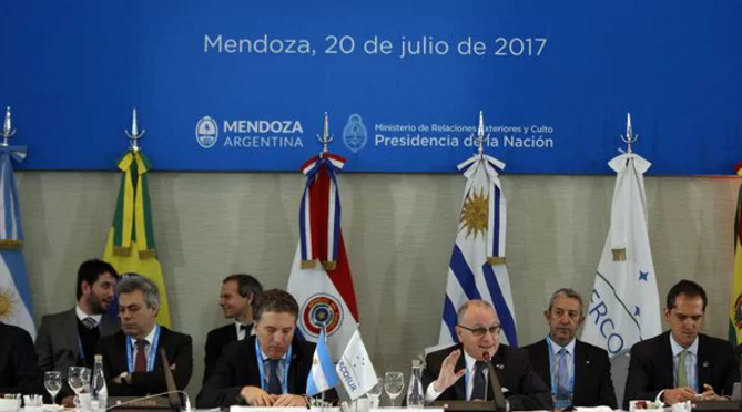 Mercosur leaders are meeting this week in Argentina for the bloc's latest summit. (Telam)