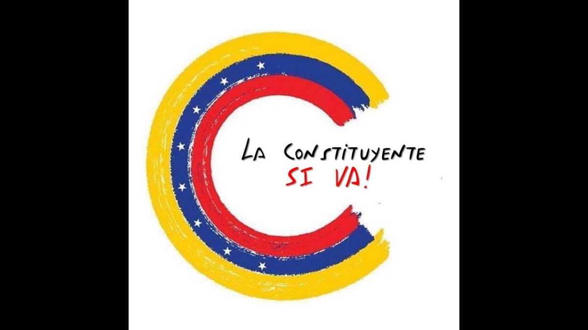 "The symbol of the National Constituent Assembly in the government's media campaign. Text reads: ""The constituent [assembly] is going ahead!"". (LaRadiodelSur)"
