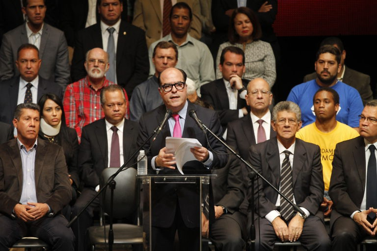 "Opposition leaders unveiled their plan for a ""plebiscite"" on Monday. (AVN)"