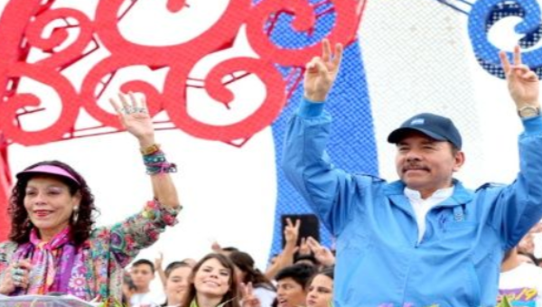 Nicaraguan Vice President Rosario Murillo and her husband President Daniel Ortega host the 38th Sandinista Revolution celebrations in Managua, Nicaragua, July 19, 2017. (EPP)
