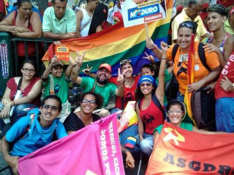 Activists from Venezuela's Revolutionary Sex and Gender Diversity Alliance. (Archive)