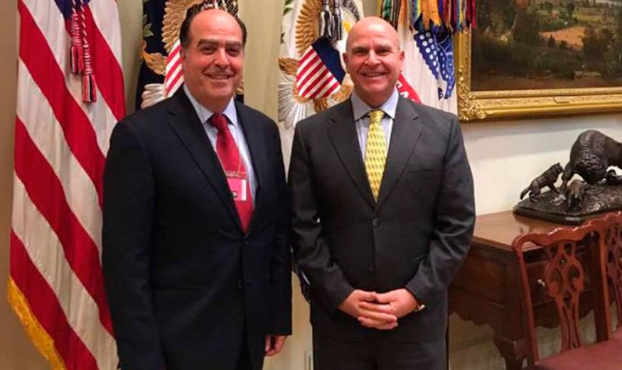 National Assembly President Julio Borges meets with US National Security Advisor H.R. McMaster on May 6, 2017. (Archive)