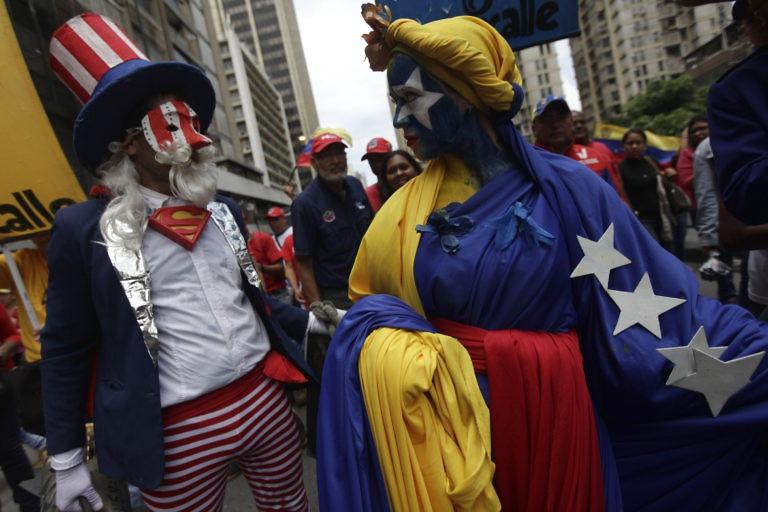 Anti-imperialist march in Caracas on August 14. (AVN)
