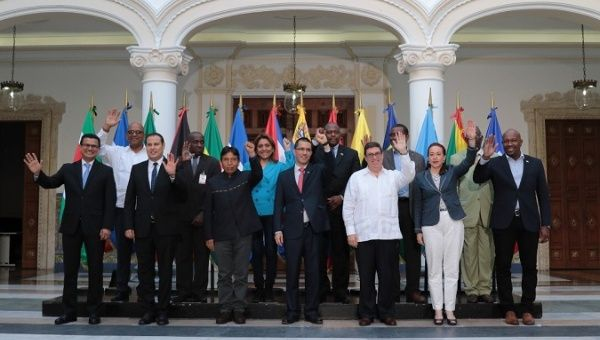 Members of ALBA countries reiterate their support for the Venezuelan government. (Cancilleria Venezuela)