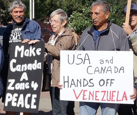 Canadians rejecting Ottawa's sanctions on Venezuela. (Defend Democracy Press)