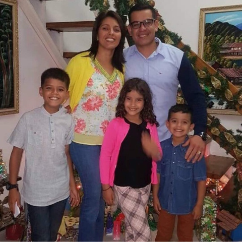 ANC delegate Tomas Lucena with his wife and children. (Twitter/Drodriguez)