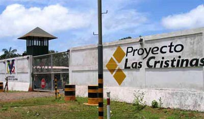 The entrance to Las Cristinas gold mine in Venezuela, which formerly belonged to Crystallex. (Reuters)