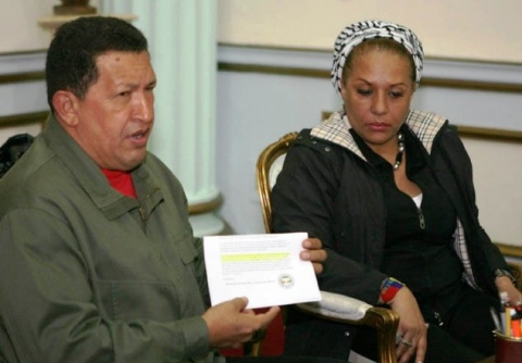 Hugo Chávez and Colombian Senator Piedad Cordoba (MinCI)