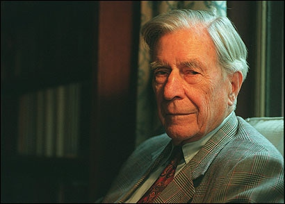 Economist John Kenneth Galbraith