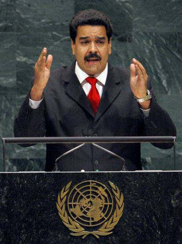Venezuelan Foreign Minister Nicolas Maduro Speaks Before the United Nations General Assembly in New York (Reuters)