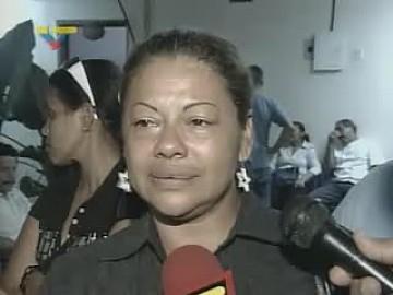 Gladys Yépez, mother of José Anibal Oliveros Yépez shot by opposition supporters. (VTV)
