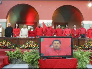 Coordinators of the founding congress of the United Socialist Party of Venezuela (Francisco Batista/RNV)