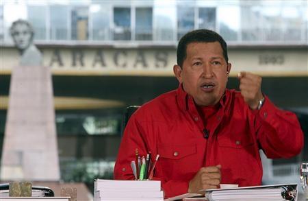 Venezuelan President Hugo Chavez orders troops to the Colombian border (Rueters)