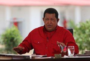 Venezuelan President Hugo Chavez during his talk show Aló Presidente on Sunday. (Prensa Miraflores)