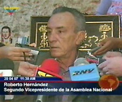 Newly appointed Labor Minister, Roberto Henández (VTV)