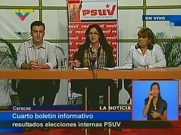 Cilia Flores announces the final list of PSUV candidates for the upcoming regional elections (VTV)