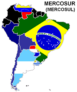 10 South American countries agreed to allow passport-free cross-border travel at the MERCOSUR summit Tuesday.