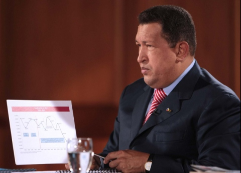 President Chavez during his end of year speech. (Prensa Presidencial)