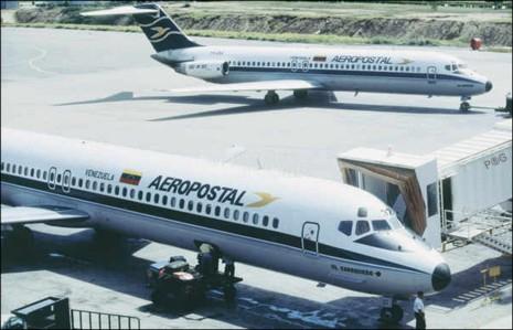 Aeropostal operates three airplanes on national flights in Venezuela. (YVKE)