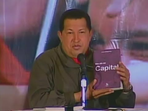 President Chavez during a summit with governors, mayors, and legislators Wednesday (VTV)