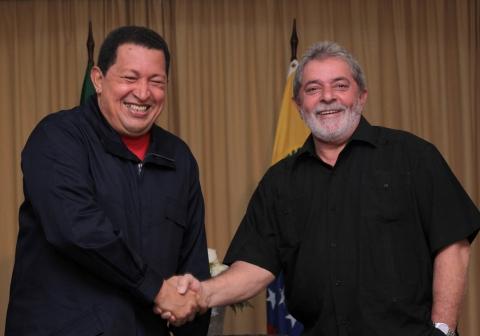 Venezuelan President Hugo Chavez (left) and Brazilian (ABN).