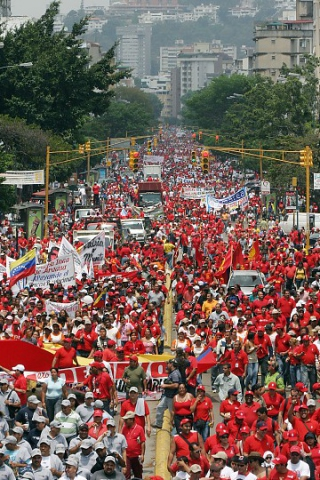 One of the marches heading towards Urdaneta Avenue in Caracas on Friday (ABN)
