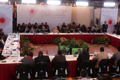 The ALBA Summit conference room (ABN)