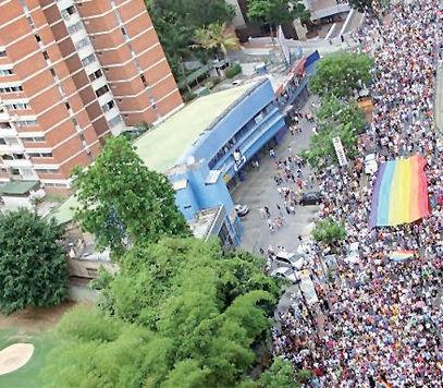 Gay pride march in Caracas in June (UNAF).