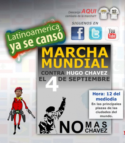 The Facebook call to protest against Chavez.