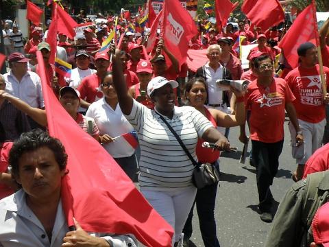 The march in support of Chavez in Caracas, Saturday (Arturo Alejandro/Aporrea)