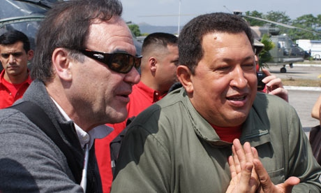 Oliver Stone's South of the Border… Oliver Stone with President Hugo Chavez (Jose Ibanez)
