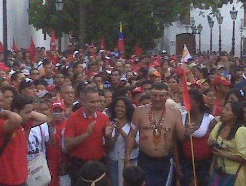 Indigenous Resistance Day in Caracas (Prensa YVKE Mundial)